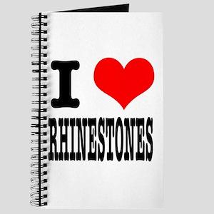 I Heart (Love) Rhinestones Journal