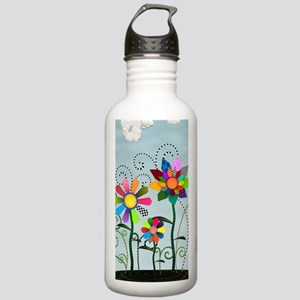 Whimsical Flowers Stainless Water Bottle 1.0L