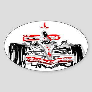 Race car Sticker (Oval)