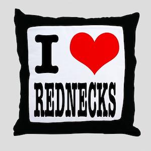 I Heart (Love) Rednecks Throw Pillow