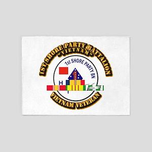 USMC - 1st Shore Party Battalion VN SVC Ribbon 5'x