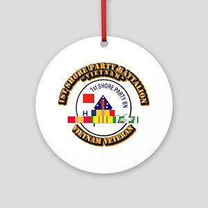 USMC - 1st Shore Party Battalion VN SVC Ribbon Orn