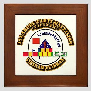USMC - 1st Shore Party Battalion VN SVC Ribbon Fra