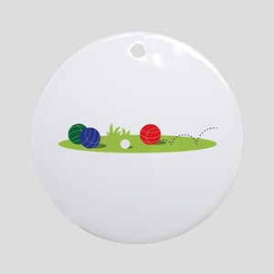 Bocce Ball Game Ornament (Round)