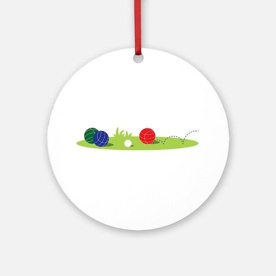 Bocce Ball Game Ornament (Round)