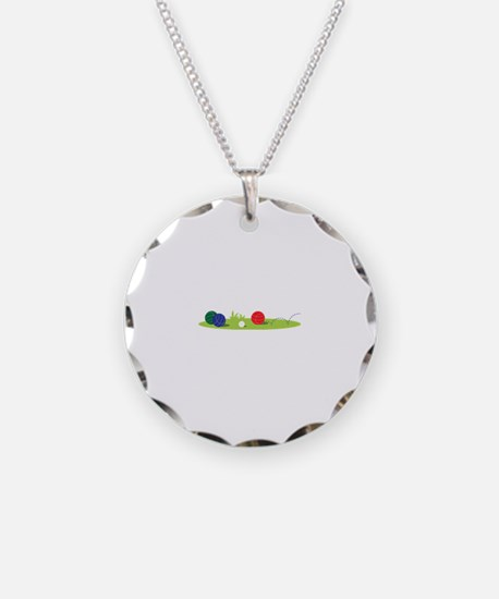 Bocce Ball Game Necklace