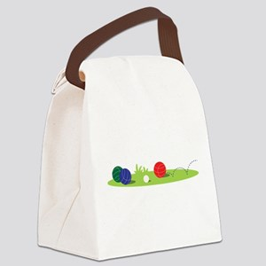 Bocce Ball Game Canvas Lunch Bag