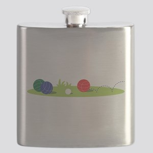 Bocce Ball Game Flask