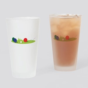 Bocce Ball Game Drinking Glass