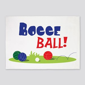 BOCCE BALL! 5'x7'Area Rug