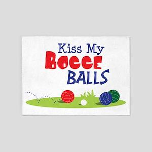 Kiss My BOCCE BALLS 5'x7'Area Rug