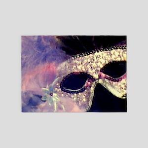 Mardi Gras Mask 5'x7'Area Rug