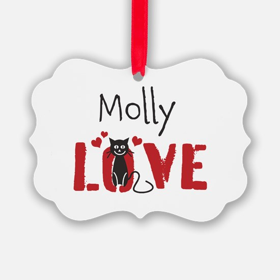 Personalize Kitty Love Ornament