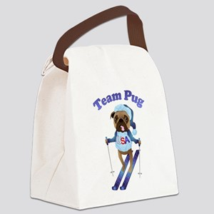 Team Pug Skier - Olympugs Canvas Lunch Bag