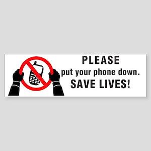 Put Your Phone down! Sticker (Bumper)