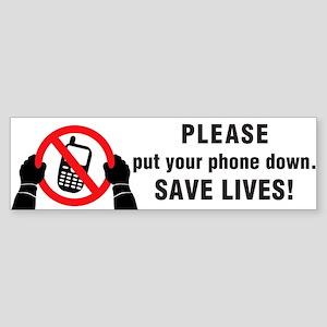 Put The Phone Down Sticker (Bumper)