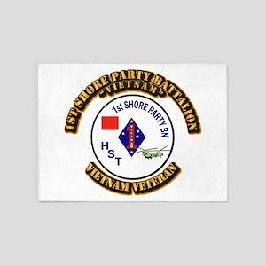 USMC - 1st Shore Party Battalion 5'x7'Area Rug