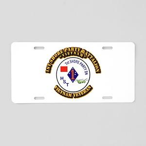 USMC - 1st Shore Party Battalion Aluminum License