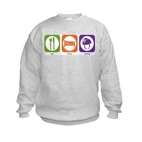 Eat Sleep Caving Kids Sweatshirt