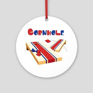 CORNHOLE Ornament (Round)