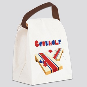CORNHOLE Canvas Lunch Bag