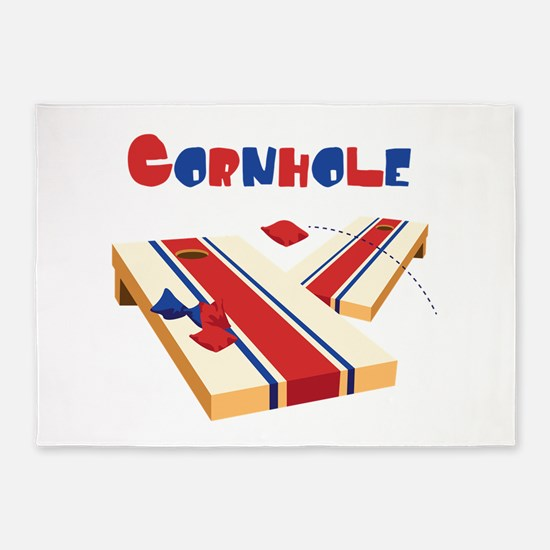 CORNHOLE 5'x7'Area Rug