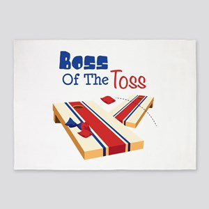 BOSS OF THE TOSS 5'x7'Area Rug