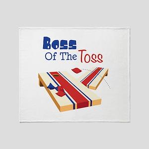 BOSS OF THE TOSS Throw Blanket