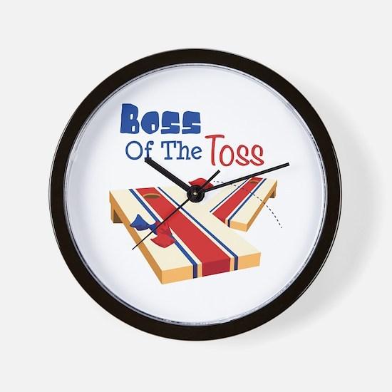 BOSS OF THE TOSS Wall Clock