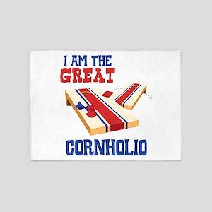I AM THE GREAT CORNHOLIO 5'x7'Area Rug