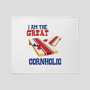 I AM THE GREAT CORNHOLIO Throw Blanket