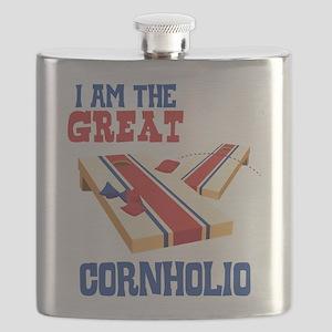 I AM THE GREAT CORNHOLIO Flask