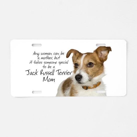 Jack Russell Mom Aluminum License Plate