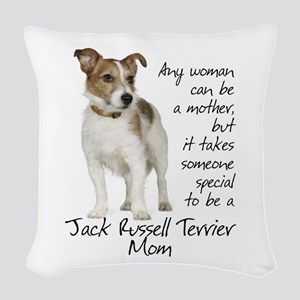 Jack Russell Mom Woven Throw Pillow
