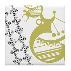 Avocado Crescent Tile Coaster
