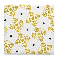 Mustard Crescent Tile Coaster