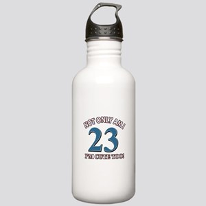 Cute 23 year old designs Stainless Water Bottle 1.