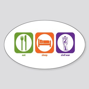 Eat Sleep Civil War Oval Sticker