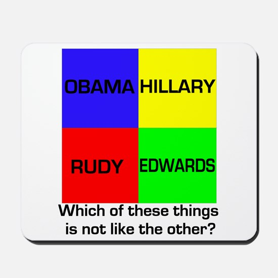 Democrat Which Things Game Mousepad