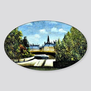 Rousseau - Ile de la Cite Sticker (Oval)
