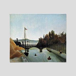 Rousseau - Footbridge at Passy Throw Blanket