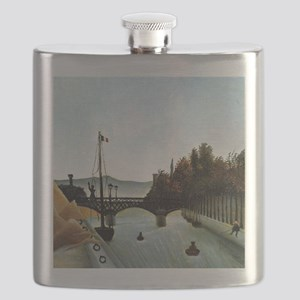 Rousseau - Footbridge at Passy Flask