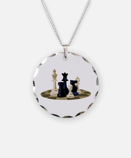 Chess Pieces Game Necklace