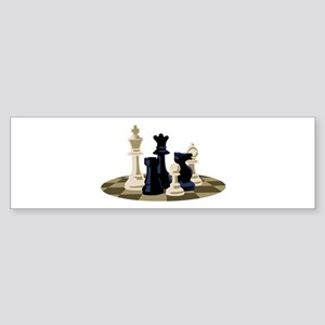 Chess Pieces Game Bumper Sticker