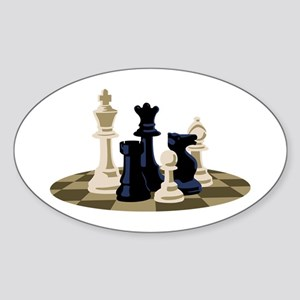Chess Pieces Game Sticker