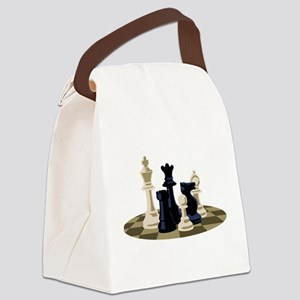 Chess Pieces Game Canvas Lunch Bag