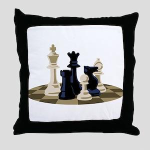 Chess Pieces Game Throw Pillow