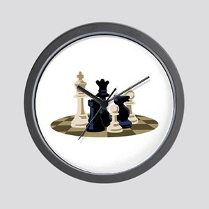 Chess Pieces Game Wall Clock