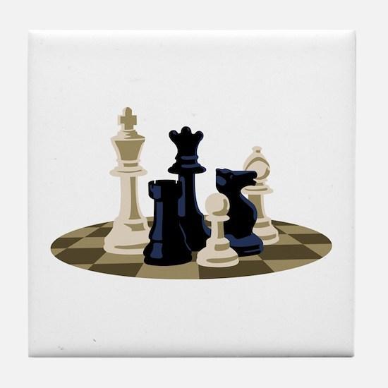 Chess Pieces Game Tile Coaster