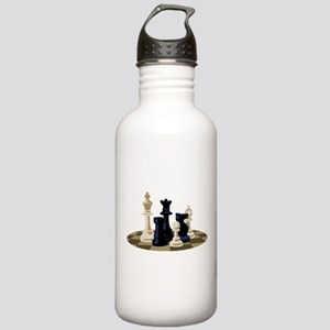 Chess Pieces Game Water Bottle